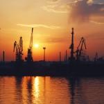 Закат в Одесском порту