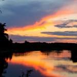 Закат на реке Пре