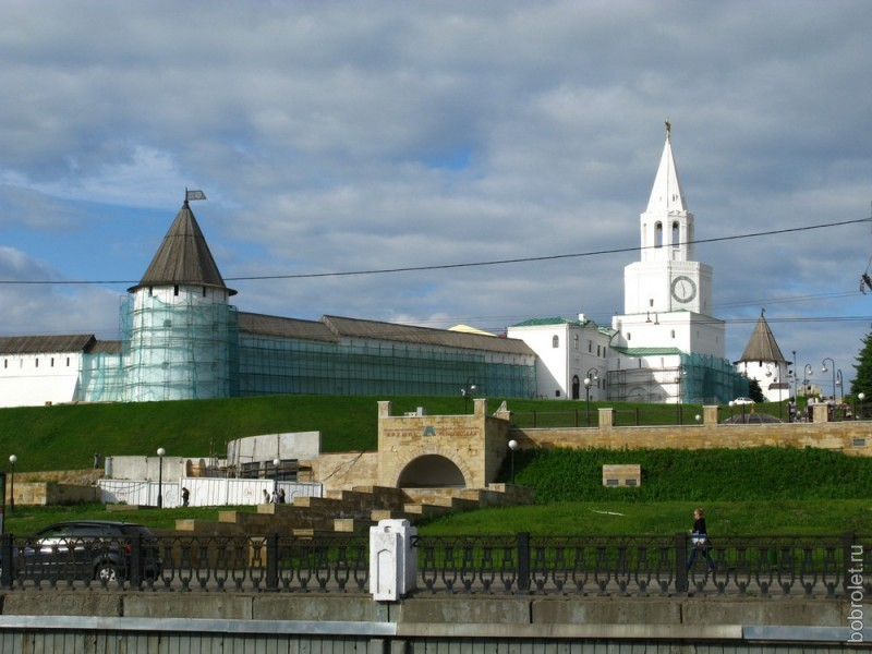Вид Кремля со стороны реки Булак