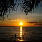 Закат на Пляже белого песка