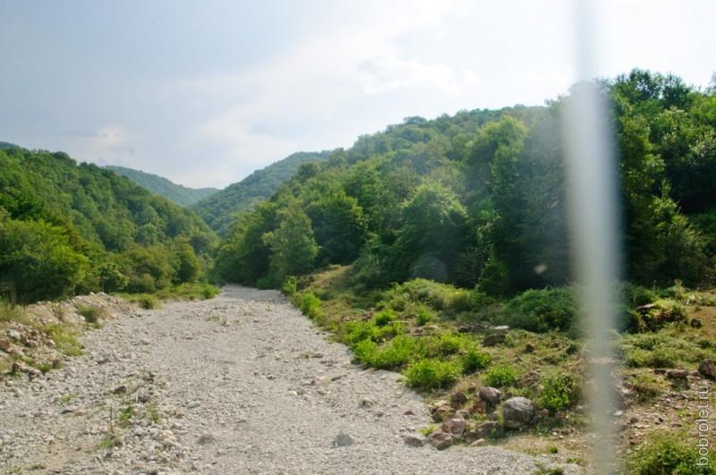 Дорога к каньону выглядит так.